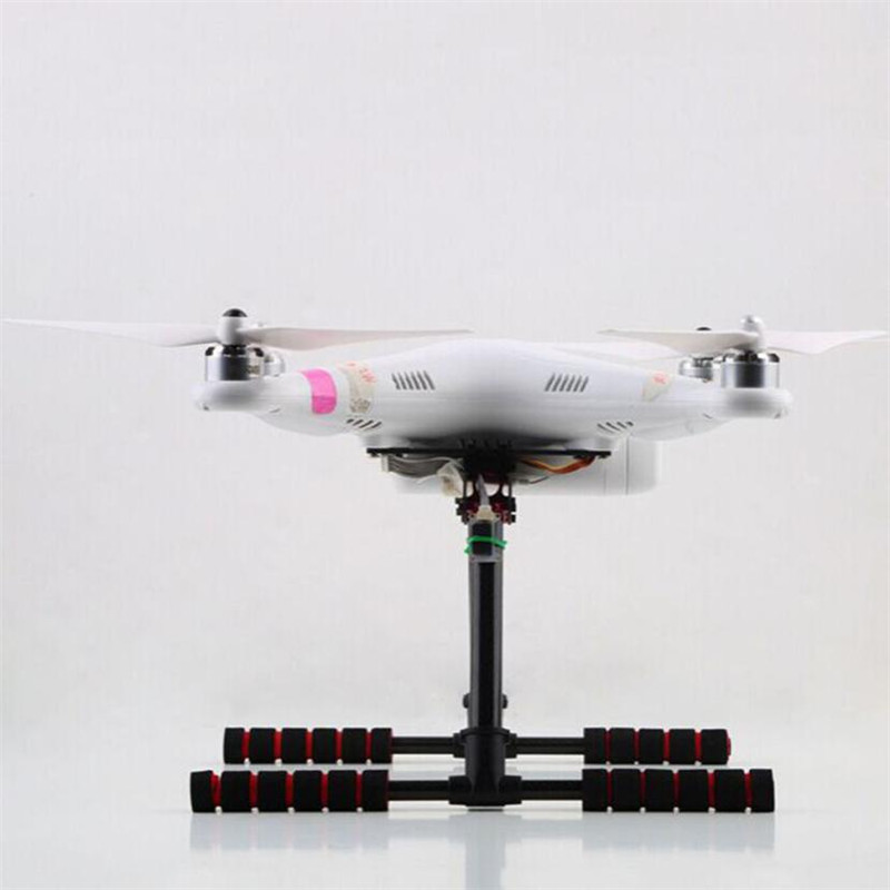 HOT Carbon Fiber Tripod Retractable FPV Upgrade Landing Skid Gear Set For DJI Phantom OCT 06