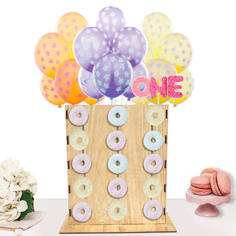Bricolage beignet support mural bonbons doux chariot planches Stand Table en bois anniversaire fête de mariage fournitures décoration de la maison