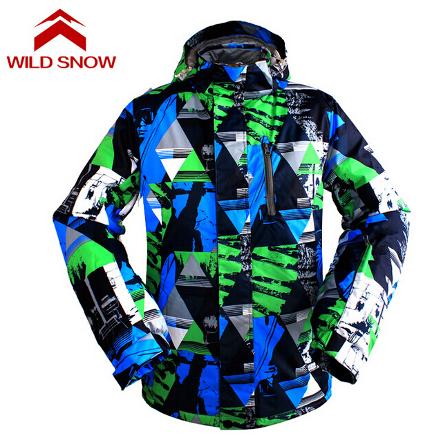 9e780905a3 Wild Snow Men s Snow Clothing Warm Coat Ski Jacket Breathable Snowboard  Jacket for Men Winter Outdoor Thermal Waterproof Coat