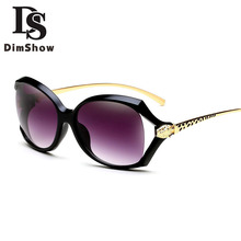 Mujeres Polarizadas gafas de Sol Retro Redondo Grande PC Diseño de Marca Marco Negro Gafas de Sol de Lujo de Las Señoras de Conducción gafas de sol mujer