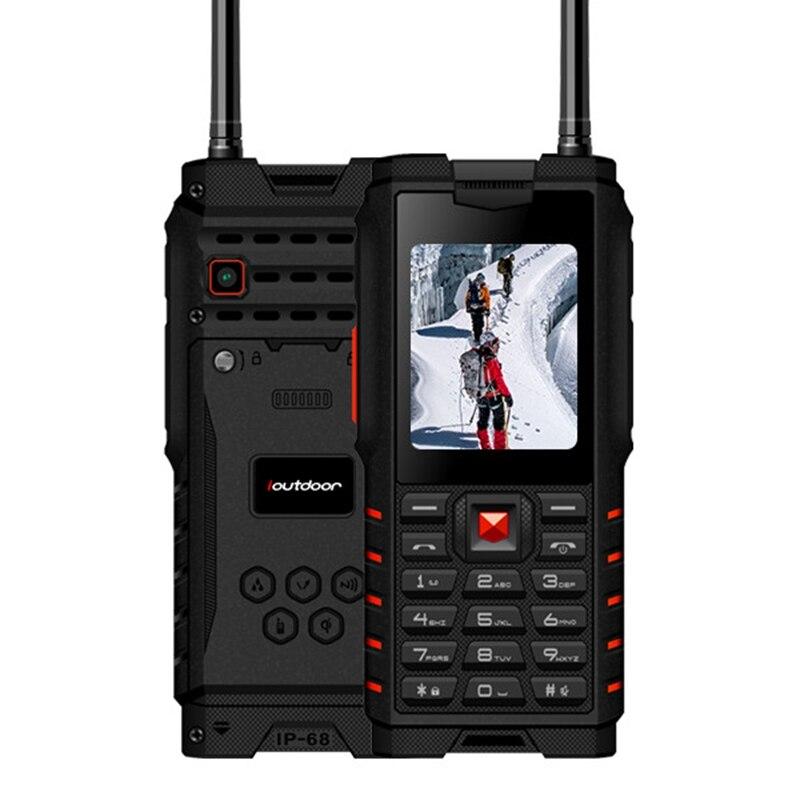 Ioutdoor T2 IP68 Impermeabile da 2.4 pollici 4500 mAh UHF Walkie Talkie Bluetooth Dual SIM Card Telefono Cellulare Robusto