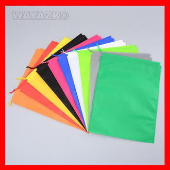 100 pieces/lot  50gsm non-woven fabric eco draw string bag