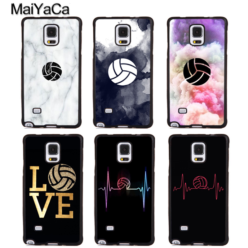 MaiYaCa I LOVE play volleyball Soft TPU Phone Cases For Samsung Galaxy S5 S6 S7 edge plus S8 S9 plus Note 4 5 8 Back Cover Coque