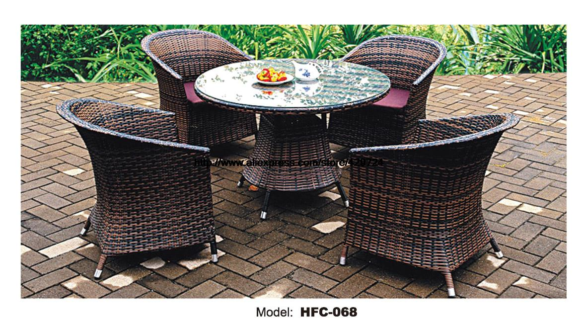 Rattan Balcony Furniture Set Courtyard Small Yard Rattan Furniture Best Design Garden Set Table Chair Leisure Outdoor Furniture