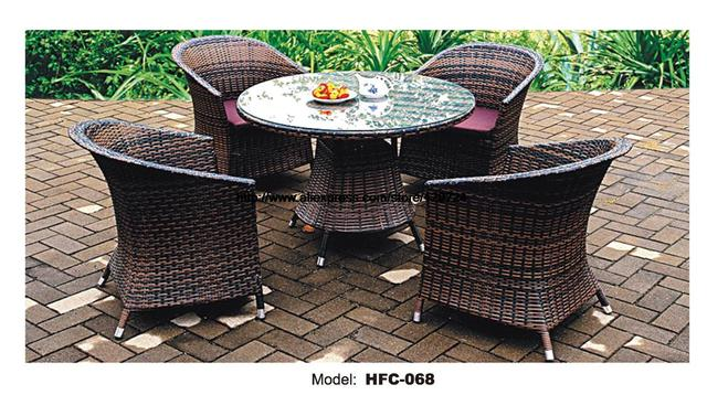 Rattan Balcony Furniture Set Courtyard Small Yard Best Design Garden Table Chair Leisure Outdoor