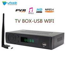 Vmade телевизионная приставка DVB T2 8939 FULL HD 1080P DVB T наземный приемник Поддержка Lan RJ45 MPEG2/4 H.264 с wifi донгл набор верхней коробки