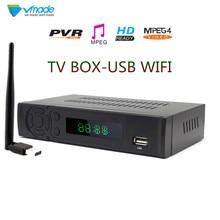 Vmade DVB טלוויזיה תיבת T2 8939 מלא HD 1080P DVB T Terrestrial מקלט תמיכה Lan RJ45 MPEG2/4 H.264 עם WIFI Dongle סט top box