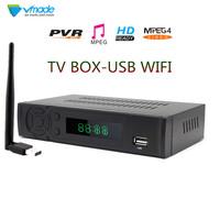 Vmade DVB   TV   BOX T2-8939 FULL HD 1080P DVB T Terrestrial   Receiver   Support Lan RJ45 MPEG2/4 H.264 with WIFI Dongle set top box