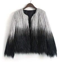 Feitong, элегантное женское пальто из искусственного меха, Осень-зима, теплая мягкая меховая куртка, женское плюшевое пальто, Повседневная Верхняя одежда с длинным рукавом