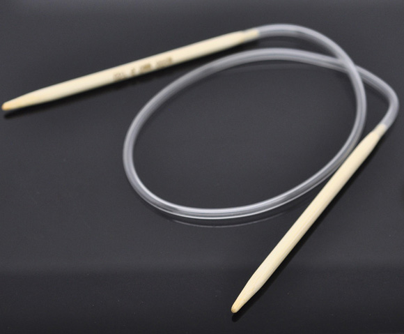 1 Pair Bamboo 40cm Circular Knitting Needle(US Size 7/ 4.5mm)