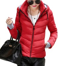 Warm Winter Jacket Women Plus Size Woman Clothes Thicken Outerwear Solid Hooded Coats Short Female Slim Cotton Padded Basic Tops semir winter jacket women plus size l womens parkas thicken outerwear solid coats short female slim cotton padded basic tops