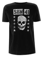 Tee Shirt Design Compression Sum 41 'Grinning Skull O-Neck Short-Sleeve T Shirts For Men round neck abstract skull pattern short sleeve t shirt for men