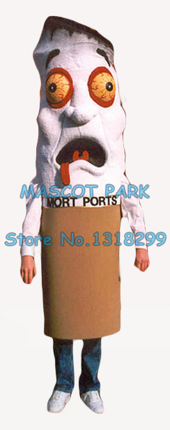 tobacco cigarette mascot costume for adult Non-smoking advertising theme anime cosply costumes carnival fancy dress 2847