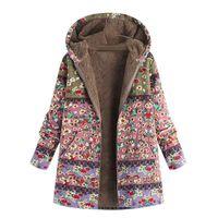 Women's Winter Cotton & Linen Parka Hooded Coat Long Overcoat ladies overcoat coats fur long parkas cotton casual