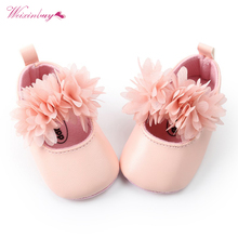 PU leather Baby Shoes Floral style baby Girls Shoes moccains