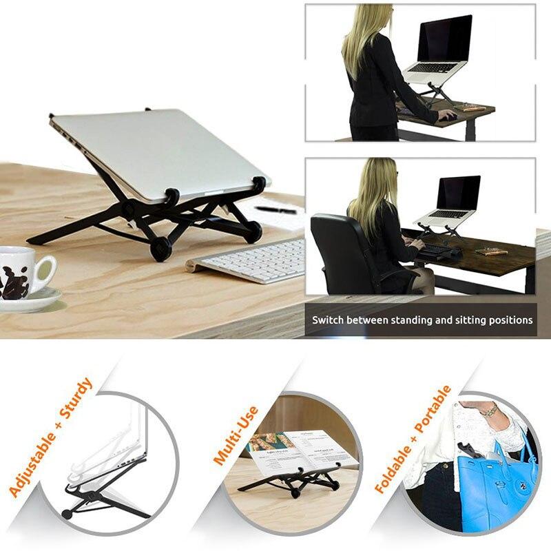 Nylon Plastic Portable Foldable Laptop Stand Desk for Laptop Notebook PC Tablet QJY99