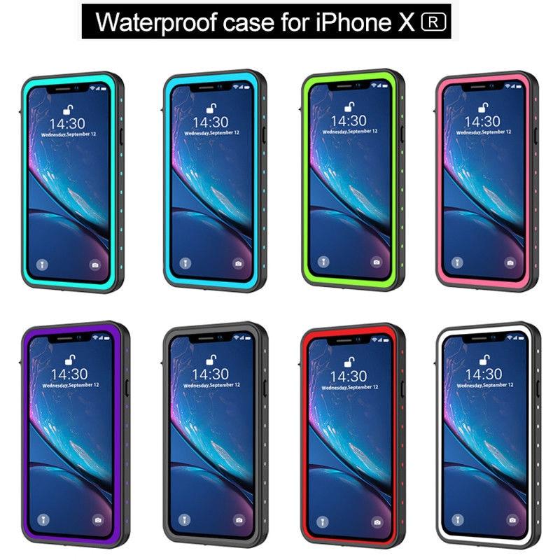 Waterproof case For iPhone Xr Dustproof Underwater Drop proof Dirtproof Snow proof Full Sealed
