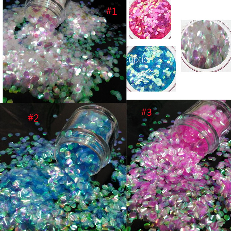 Nails Art & Werkzeuge Schönheit & Gesundheit 10g Glas Wty17 Neue 3 Farbe Bling Skala 1 Glas Weihnachten Nail Art Glitter Pulver Staub Gold Silber Hexagon Pailletten Dekoration Weihnachten