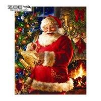 ZOOYA Diamond Embroidery 5D DIY Diamond Painting Christmas Santa Claus Diamond Painting Cross Stitch Rhinestone Mosaic