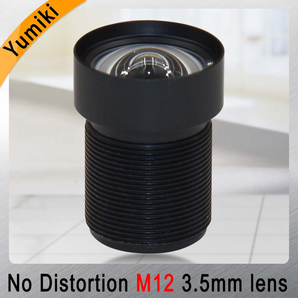 Yumiki 3.5mm M12 Lens 1/2.5 Inch 5MP IR F1/2.8 No Distortion Lens For Cctv Camera
