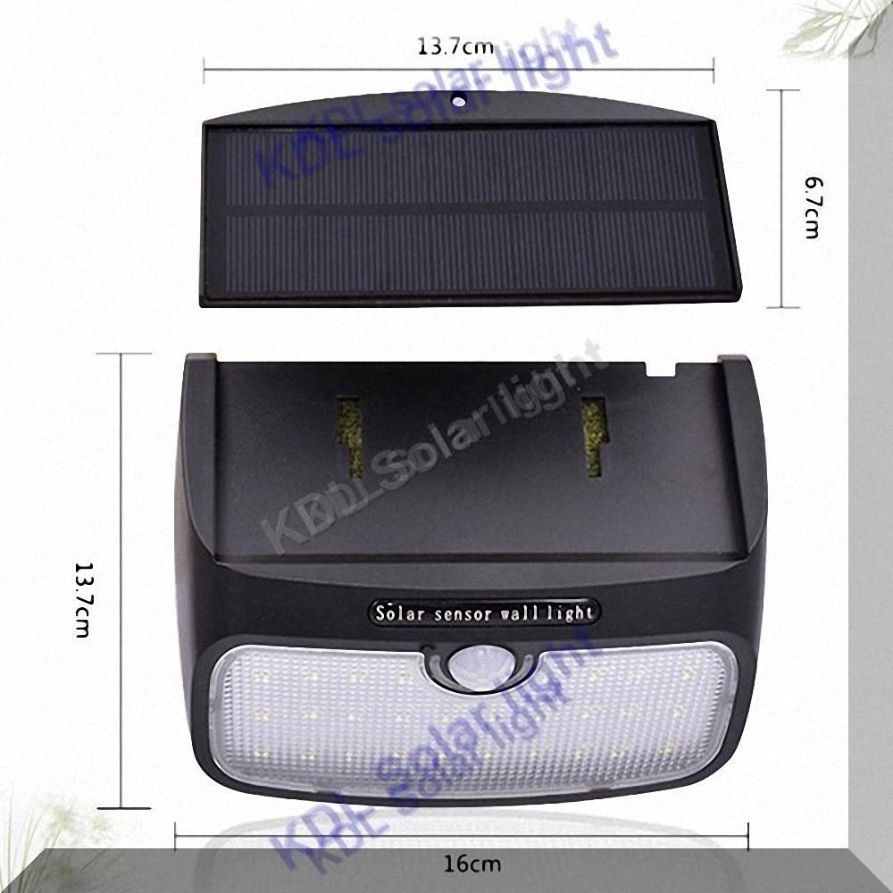 2.5M split mounting 48 LED 900lm Solar Light PIR +motion+radar vs385528103020 led 20 30 LEDs Solar Panel street light for g