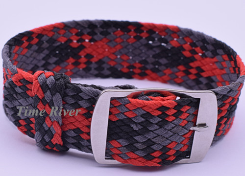 New arrived Hot 1PCS 20MM&black-grey-red - nylon straps perlon straps weave straps watch strap Watch band 1pcs canvas fabric nylon watch straps bands black army green brown gray striped replace wristwatch bracelet width 20mm