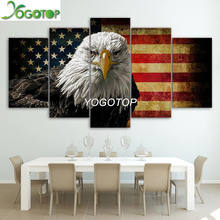 YOGOTOP DIY Diamond Painting Cross Stitch Kits Full Diamond Embroidery 5D Diamond Mosaic Home Decor Eagle flag 5pcs ML401 yogotop diy diamond painting cross stitch kits full diamond embroidery 5d diamond mosaic decor colorful butterfly 5pcs ml307