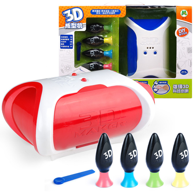 Creative 3D Magic Painting Machine Kids 3D Printer Drawing Pen Toys For Children Development канцелярские кнопки drawing pin creative office 136