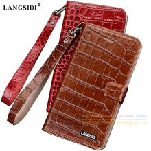 Crocodile Grain Genuine Leather Case For Lenovo Vibe P2 P2C72 5.5 inch Luxury Mobile Phone Cover & Card Slot + Send Lanyard