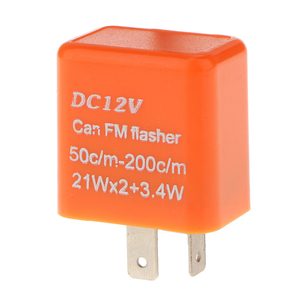 Image 2 - 1 Pcs 12V 2 핀 조정 가능한 주파수 LED 성 노출증 릴레이 차례 신호 깜박이 표시기 대부분의 오토바이 오토바이 액세서리