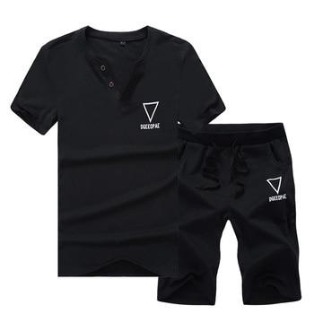 Летняя одежда спортивные костюмы мужские Бег комплекты одежды
