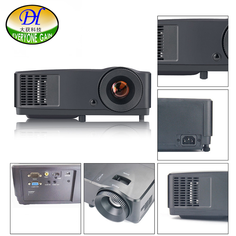 Everyone Gain DLP Projector school teaching projector Home theater Proyector led full hd 1080p video projecteur Beamer DH-LS302 everyone gain blu ray 3d smart android projector wifi bt dlp tv led home theater proyector with touch button dh a70 beamer