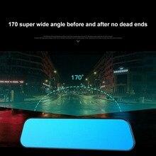 Ультра тонкий 2.5D видеорегистратор для вождения 5 дюймовый сенсорный экран Автомобильная камера Starlight ночное видение передний и задний двойные линзы
