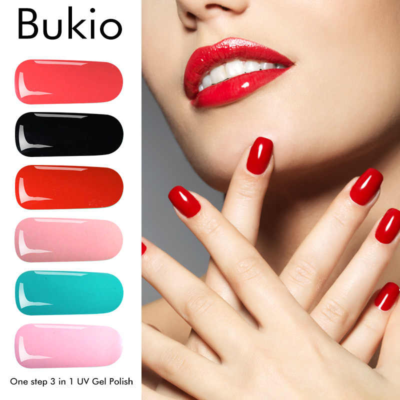 Bukio Nails Accessoires One Step 3 In 1 Top Coat Uv Gel Hybrid Varnishes Uv and Led Permanent Enamels Nail Design 8ml