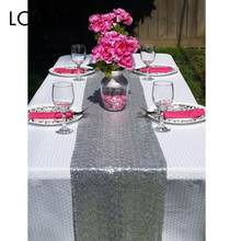 Romantic 30x275cm Sequin Chair Bow Table Runner Wedding Anniversary Party(China)