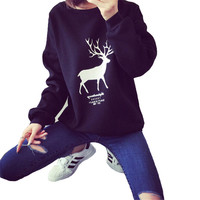 New Coats Loving Deer Women Sweater Female Pullovers Round Collar Knitting Womens Sweaters Fashion Winter Ladies