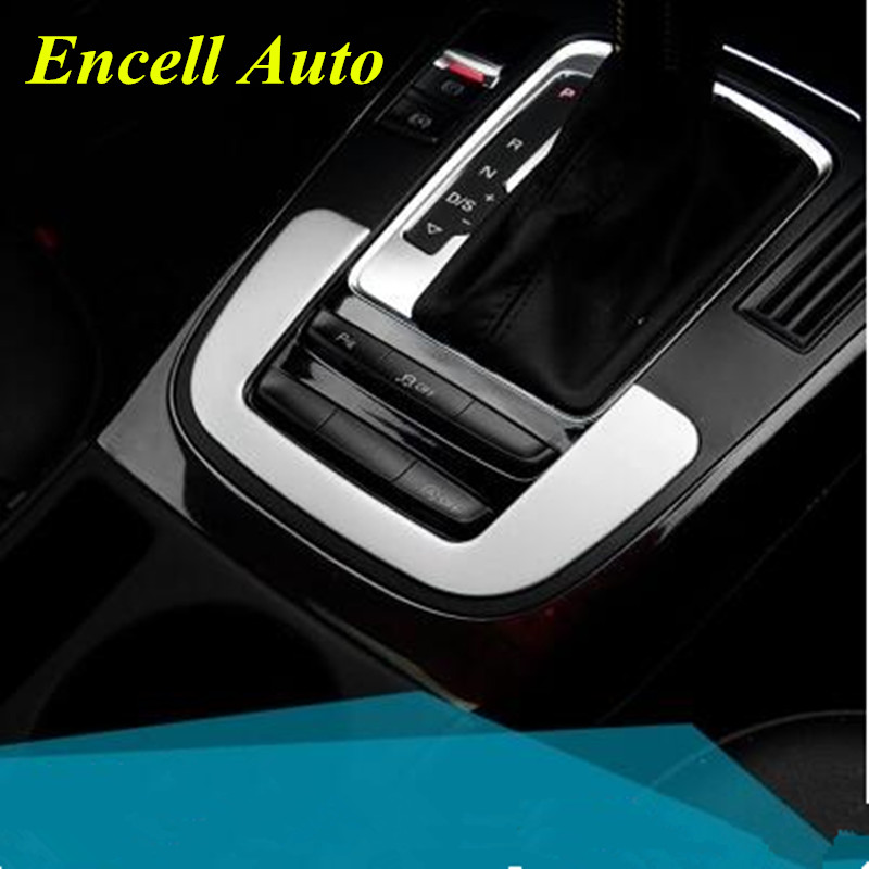 New Stainless Steel Chrome Center Console Gear Shift Box Panel Strip Trim for Audi A4 A5 Q5 2009 2010 2011 2012 2013 2014 2015