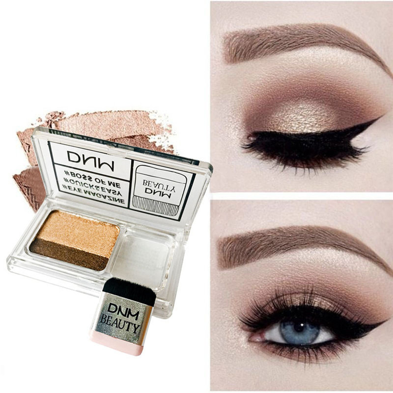 Good Dnm Lazy Double Color Pearly Eyeshadow Gorgeous Metal Glitter Waterproof 3d Glitter Eye Shadow Paleta De Sombra #61920 To Rank First Among Similar Products Eye Shadow Beauty & Health