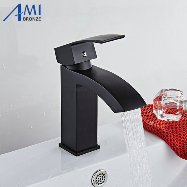 Basin Faucets Bathroom Sink Basin Mixer Hot Cold Brass Faucet Mixer ...
