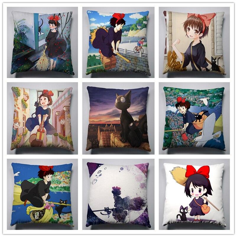 Anime Manga Kiki's Delivery Service 40x40cm Pillow Decorative Customized  Case Cover Seat Bedding Cushion