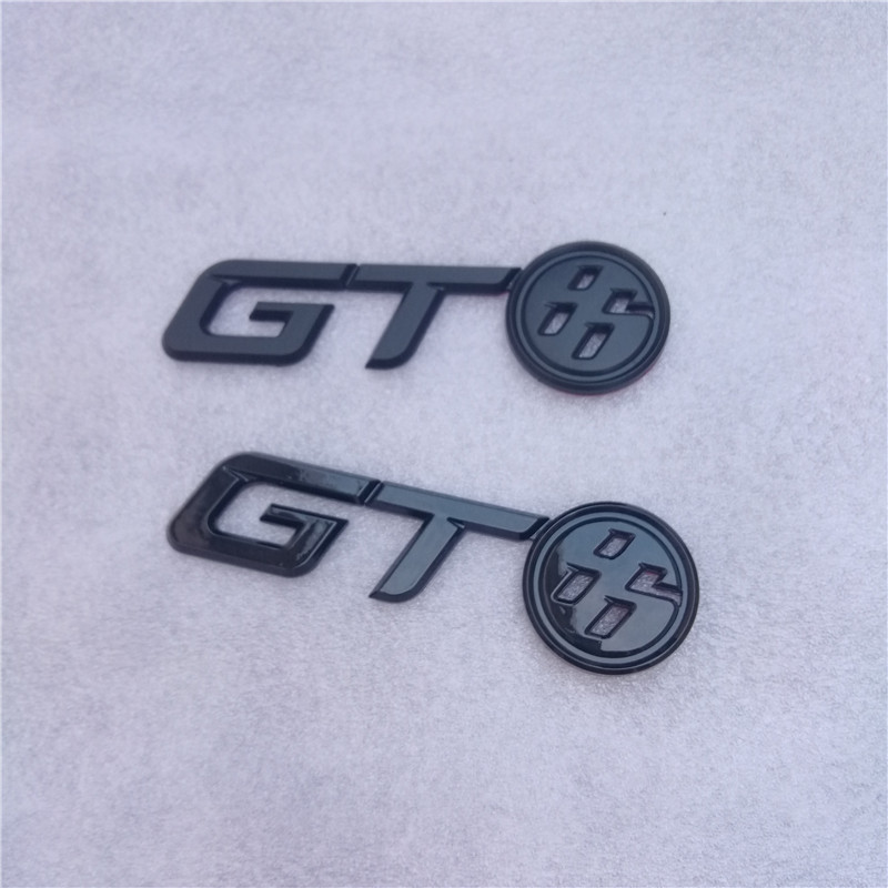GT86 Fender Badge Emblem Logo Glossy Black for Toyota 86 GT86 Scion FRS FR-S ZN6 2