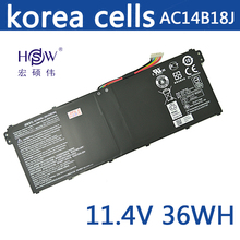 New 11.4V 36wh Laptop Battery for Acer Aspire E3-111 V3-111 V3-111P V5-122 AC14B8K KT0030G AC14B18J 4ICP5/57/80 laptop keyboard for gigabyte p34g v2 p34f v5 p34w v3 p34k v3 u2442d u2442f u2442s u2442n u2442t u2442v u24f u24t us english new