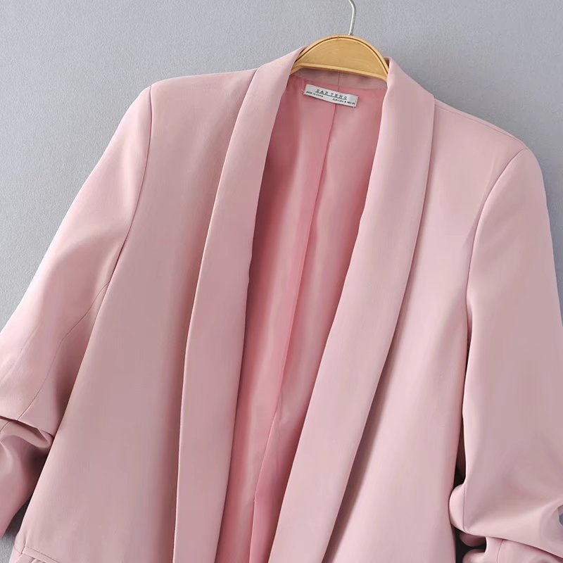 Jacket women elegant 5 color outerwear pocket office casual fashion jacket Jacket women elegant 5 color outerwear pocket office casual fashion jacket