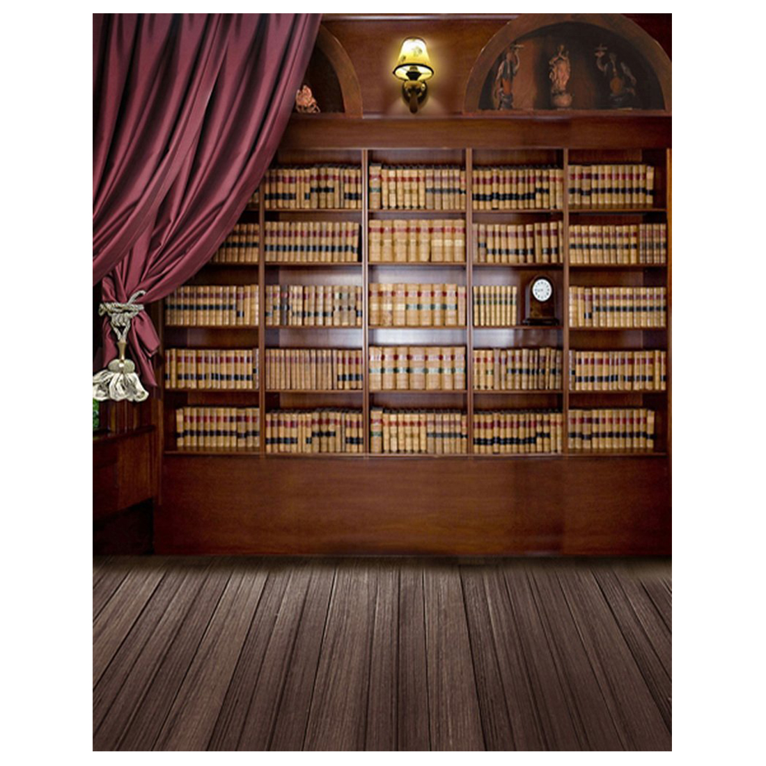 Vintage Library Books Wooden Floor Photography Backdrops Photo Props Studio Background 5x7ft edt 5x7ft 150x210cm vinyl christmas theme picture cloth photography background studio props wooden floor background wall ligh
