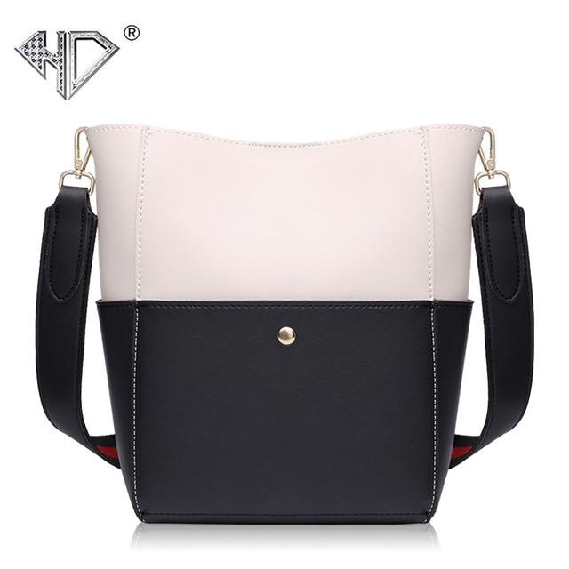 5d4b7a4e44d5 Luxury Brand Designer Bucket beg Women Leather Handbag Large Capacity Wide  Strap Shoulder bag Crossbody bag
