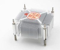 Fast Free Ship For Intel 1155 1156 1150 I3I5 CPU Pure Copper Core Radiator Square Cooling