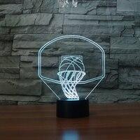 7 Color Changing LED Nightlight Kids USB 3D Basketball Backboard Shape Table Lamp Baby Sleep Lighting