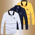 2016 New Arrival Fashion Brand Polo Shirts Long Sleeve Men's Spring Autumn Slim Shirt Cotton Casual Tee Shirts Men M~4XL TS001