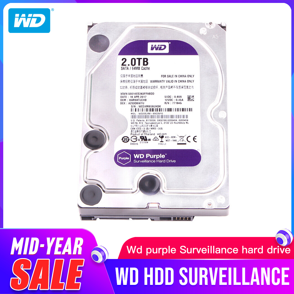 "Western Digital WD violet Surveillance HDD 1 to 2 to 3 to 4 to 6 to 8 to 10 to 12 to SATA 6.0 Gb/s 3.5 ""disque dur caméra AHD DVR IP NVR"