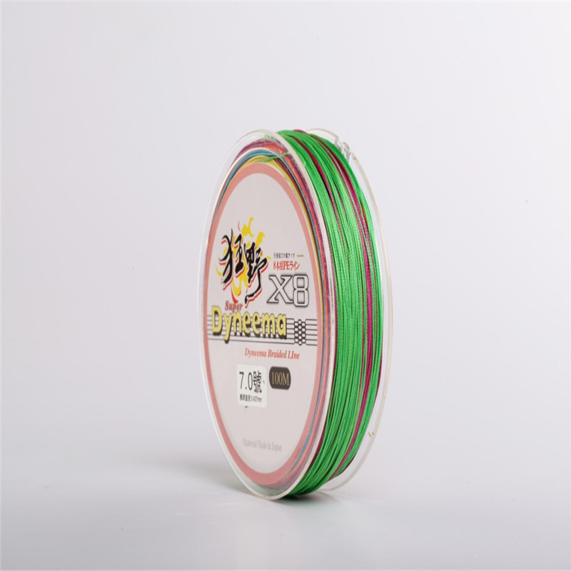 New Braided Fishing Line 8strands Sea Multicolored Fishing Line Strong PE Braided Line Carp For Fishing 100m Line Fishing Gear